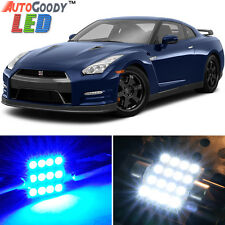 11 x Premium Blue LED Lights Interior Package Kit for Nissan GTR 2009-2017 +Tool