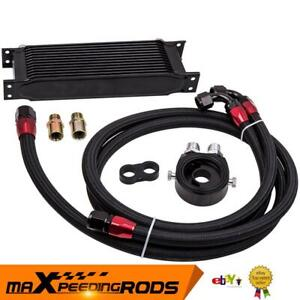 Universal Oil Cooler 13 Row AN10 10AN Oil Cooler Kit with Filter Adapter & Hose