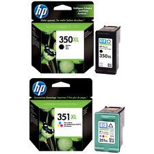 Original HP 350XL 351XL Black & Colour Ink Cartridges Twin Pack C4280 C4340