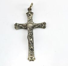 Vintage Sterling Silver Crucifix Pendant