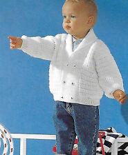 Bambino Cardigan Knitting Pattern 12/18 LAV - 2/3 anni 4 strati 170