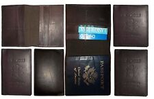 Lot of 6 New USA Leather passport Cover, Case wallet credit card case ID holder