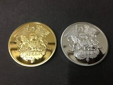 Freddie Mercury QUEEN POP ROCK MUSIC 24K GOLD AND .999 SILVER MEMORABILIA Coin
