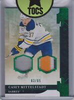 Casey Mittelstadt 2019-20 Artifacts Emerald Patch/Jersey 63/65 Buffalo Sabres