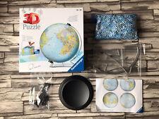 Ravensburger Puzzleball 3D Rompecabezas Mundo Globe 540 Piezas. EXC COND, Caja Y Soporte