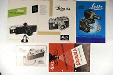 Leitz Leica 5 prospectus en langue francaise