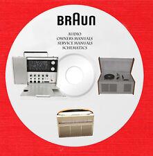 Braun Audio Repair Service schematics owner manuals on 1 CD in pdf format