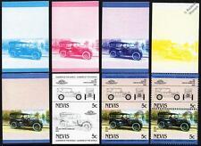 1916 PACKARD TWIN SIX Car Stamps (1984 Nevis Progressive Proofs / Auto 100)