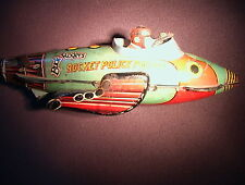 Buck Rogers ANTIQUE 1927 Louis Marx & Co Rocket Police Patrol Tin Wind-Up WORKS!