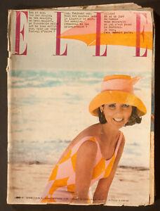 'ELLE' FRENCH VINTAGE MAGAZINE SUNSHINE ISSUE 8 JUNE 1962