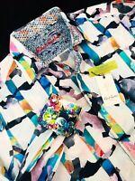 Robert Graham Calazans Embroidered Long Sleeve Shirt Large $228