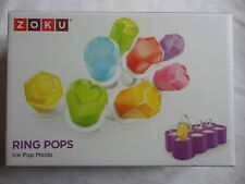 Zoku Ring Pops - Diamond Ring Ice Pop / Lolly Moulds With Drip Guards - 8 Piece