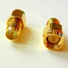 SMA Male Plug to RP-SMA Female Plug WiFi Antenna Extender Adapter Gold Plated x2