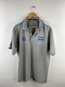 Russell North Melbourne Kangaroos AFL Mens Polo Shirt Size XL Grey Golf Collared