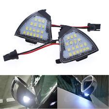 2x White 6000K Side Mirror Puddle Light LED Bulbs For VW Golf 5 Jetta Passat 12V