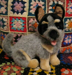 *sitting plush Australian Cattle Dog Blue Heeler Pup* by Bocchetta