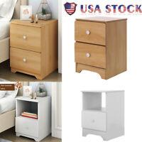 Bedroom Bedside sofa End side Locker Double Drawer Nightstand Storage Cabinet