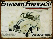 Plaque métal vintage Citroen 2cv France