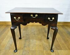 Antique rustic 3 drawer lowboy - side console table
