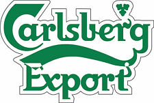 "Carlsberg Export Alcohol Sticker - wall, window, vinyl sticker 5""x3.5"""