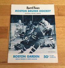 Boston Bruins 1967 Official Program Bobby Orr Rookie Season FIRST Cover RARE