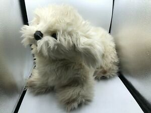 Large Vintage Gund Design 1987 White Puppy Dog Plush Soft Stuffed Toy Animal