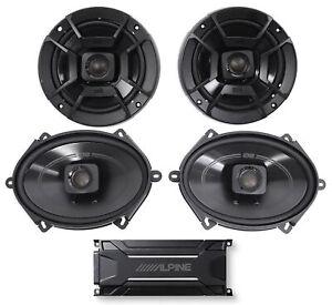 """ALPINE KTA-30FW 600 Watt 4-Channel Amplifier Amp+Polk Audio 6.5""""+5x7"""" Speakers"""