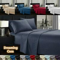 Egyptian Comfort Deep Pocket Bed Sheet Set sheets stripe pattern 1800 Count 5H