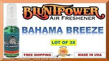 3X BluntPower 100% Concentrated Oil Air Fresheners Blunt Power BAHAMA BREEZE