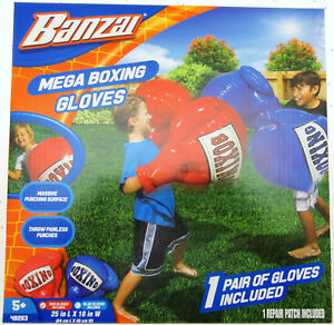 Mega Boxing Gloves ~ Inflatable ~ Red & Blue Set ~ By Banzai