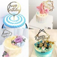 1 Home Cake Happy Birthday Cake Topper Card Acrylic Cake Party Decoration Supply
