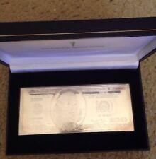 4 Troy OZ .999 Silver Proof (2000) 100 $ COA American Historic Society