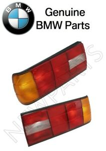 For BMW E30 318i Pair Set of Left & Right Taillights Lens Genuine
