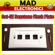 Keystone Flush Plate 3 Ports Telemaster Wall Plate