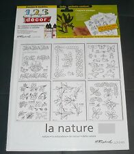 """pochette 1 2 3 décors Raphaël Loisirs-  36 dessins & modèles thème """"la nature"""""""