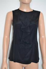 Marni  Black Sleeveless Top w/ Front Ruffle Size 38