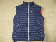 RAB Womens Pertex Microlight Quilted Down Vest Gilet Blue Pink Size 14 RRP £130