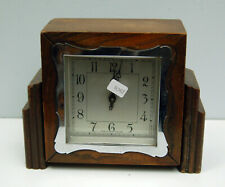 Clock Restoration Project - small square wind up mantle clock with chrome bezel.