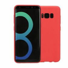 For Samsung S8+ (Plus) Shockproof Silicone Case Slim Cover Shell in Red