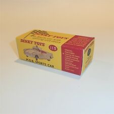 Dinky Toys 113 Mgb Coupe Sports Car empty Reproduction box