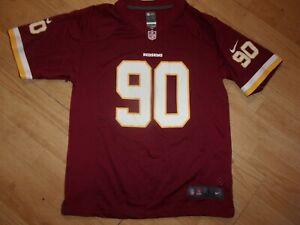 NIKE Washington Redskins NFL Football Jersey #90, Youth sizes S,M,L,XL (B230)
