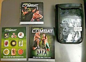 Combat Les Mills Motivational Fitness Authentic 5 DVD Set w/ M Gloves & Guides