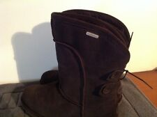 Emu Charlotte  Sheepskin boots with button detail in Chocolate size 4 BNWT