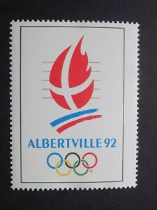 (1) MNH 1992 Freance Albertville O;ympic poster Cinderella Stamp