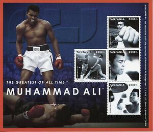 Tanzania Boxing Stamps 2012 MNH Muhammad Ali Famous People Sports 4v M/S