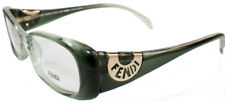 NEWT W AUTH CARD FENDI F847 51/16/135 GREEN GOLD LOGO EYEGLASSES W HARD CASE