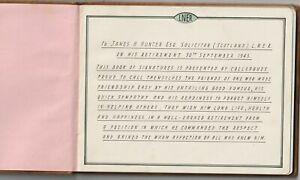 LNER 1943 AUTOGRAPH BOOK PRESENTED TO RETIRING SOLICITOR with SIGNATURES UNIQUE