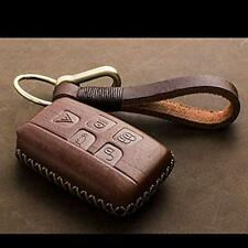 K1 Genuine Leather Car Remote FOB Key Case Cover Fit Land Rover/Range Rover