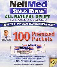 4 Pack - NeilMed Sinus Rinse Premixed Refill Packets 100 Each