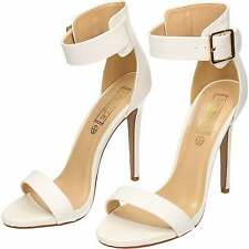 Ankle Strap Stiletto High Heel Peep Toe Sandals Shoes White wedding size 6/39